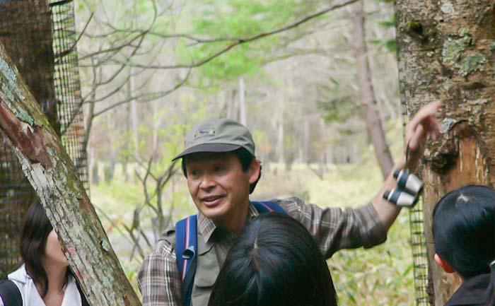 日光自然ハイキング シカの食害